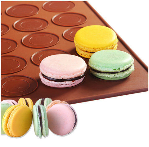 Franse makaron siliconen bakplaat mat muffin diy chocolade cookie mould mode-48 capaciteit (ronde)   Leeseph