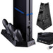 Voor Playstation4 PS4 Dual Charger Verticale Controller Dock Station Opladen Bracket Stand + Cooling Cooler Fan + 2 USB Power HUB