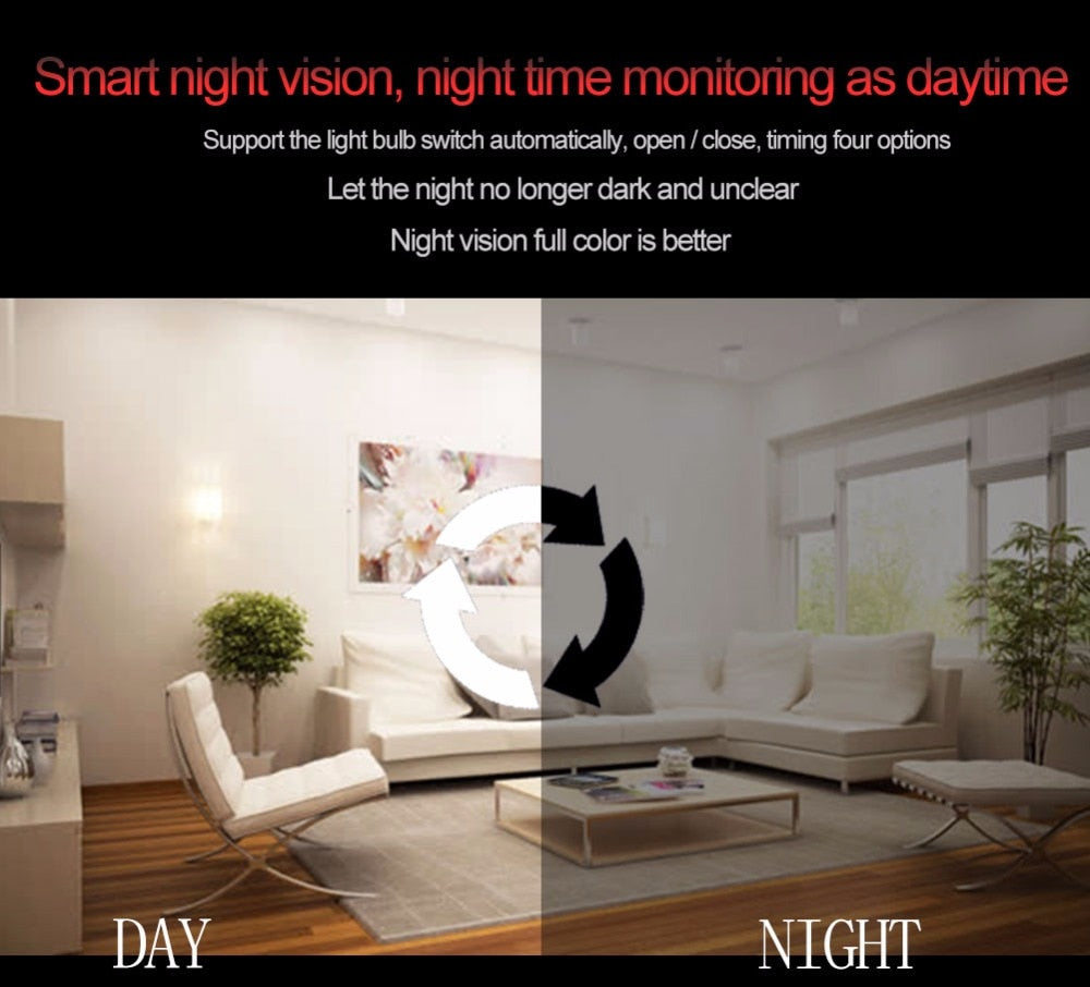 Fabulous Yubeter 960 P 1080 P 360 Beveiliging Wifi Camera Lamp Squirreltailoven Fun Painted Chair Ideas Images Squirreltailovenorg