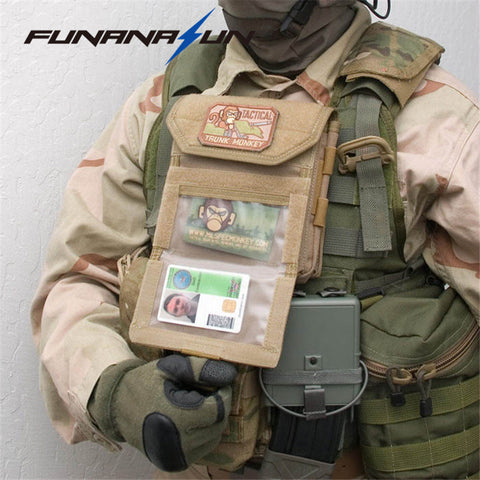 Military Molle Admin Front Vest Ammo Storage Pouch  Magazine Utility Belt Waist Bag For Hunting Shooting Paintball CF Game