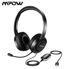 Mpow 158A Wired Hoofdtelefoon USB/3.5mm Plug Headset Met Microfoon Noise Cancelling voor Call Center & Online Conferentie voor Win