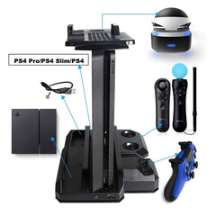 PS4 Pro & PS4 Slim & PS4 Multifunctionele Verticale Cooling Stand, PS Move & PS4 Controller Charger Station & PS VR Showcase Stand