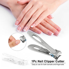 Professionele Nagelknipper Rvs Nail Cutter Teennagel Vingernagel Manicure Trimmer Teennagel Clippers voor Dikke Nagels