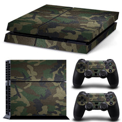 Verwijderbare Camouflage Camo patroon Vinyl Skin Sticker Film Voor PlayStation 4 PS4 Console + 2 Stks Gratis Controller Cover Decals