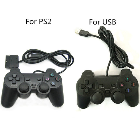 Wired Controller Gamepad Joystick Joypad Game Controller Voor PS2 Poort Voor Usb-poort Shock Trillingen Voor Windows PC   FGHGF