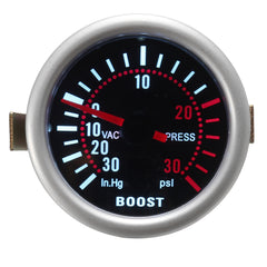2 Inch 52mm Universele LED Auto Turbo Boost Manometer 30 Psi Meter Gerookte wijzerplaten