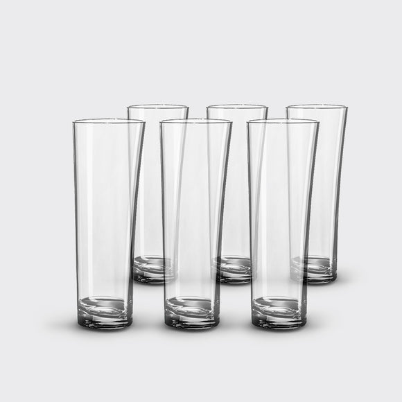 Unbreakable, Long Drink Glasses, <br>set of 6, <br>10 oz. each