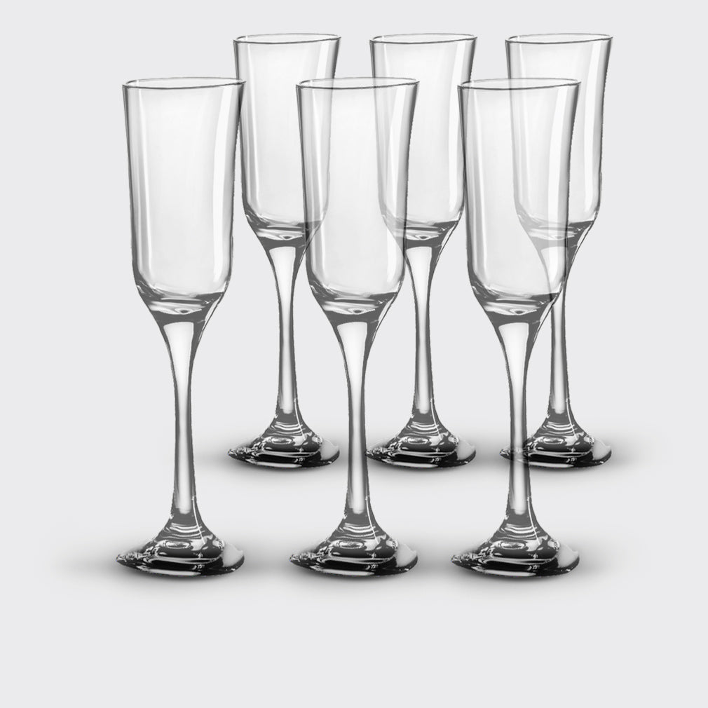Unbreakable, Elegant Champagne Glasses, <br> set of 6, <br> 05 oz. each