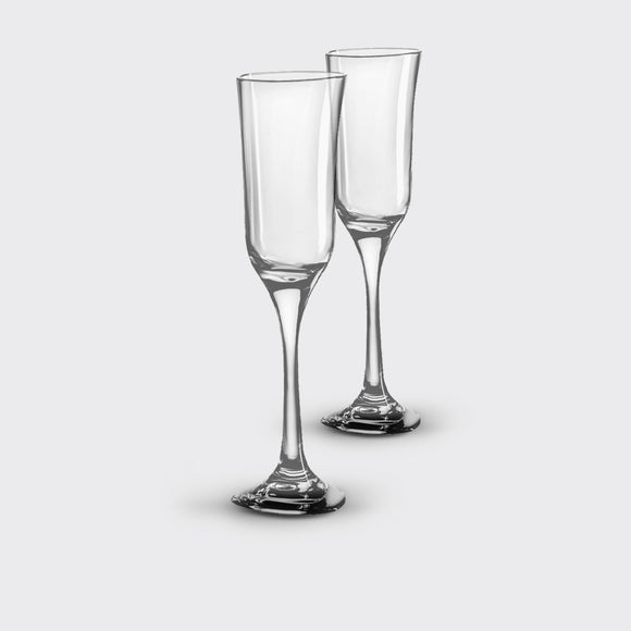 Unbreakable, Elegant Champagne Glasses, <br> set of 2, <br> 05 oz. each