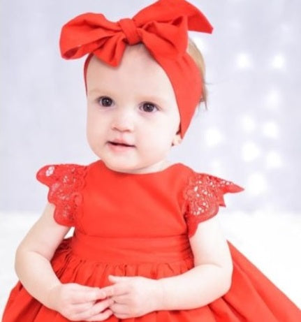 Baby Girl Red Dress Set