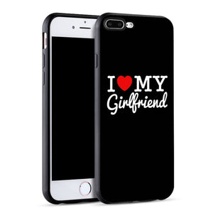 """I love my BF/GF"" Phone Case - For iPhone X 8 5 5S SE 6 6S 7 Plus"