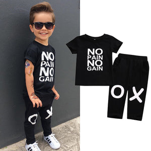"""No Pain No Gain"" Boy Set"