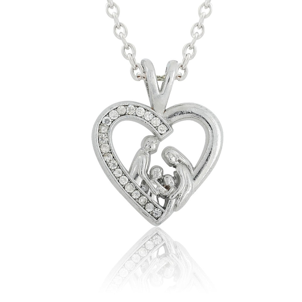 Family Heart Shaped Keepsake Pendant
