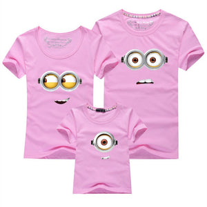Colourful Minions Family T-shirts