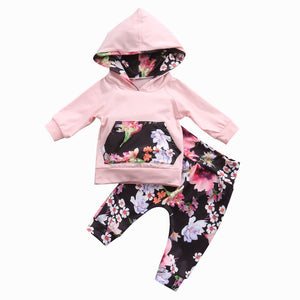 Patchwork Hoodie & Floral Leggings Set