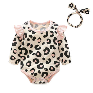 3pcs Newborn Leopard Print Set