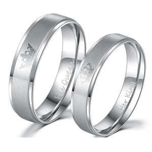 Her King & His Queen Wedding Rings