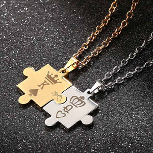 K & Q Crown Pendant Necklaces