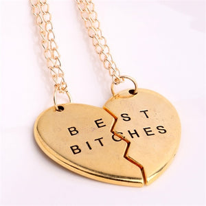2/3pcs Broken Heart Gold/Silver Plated Necklaces