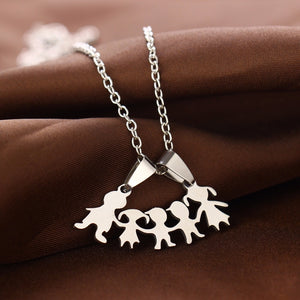 Family (3 children) Love Necklaces