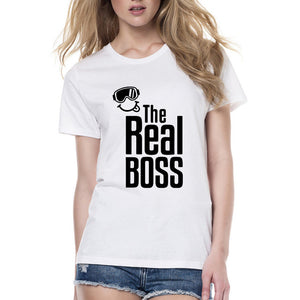 """The Real Boss"" Funny T-shirts"