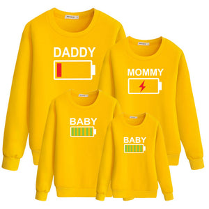 "Colourful ""Battery"" Sweatshirts"