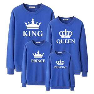 "Colourful ""King & Queen Family"" Sweatshirts"