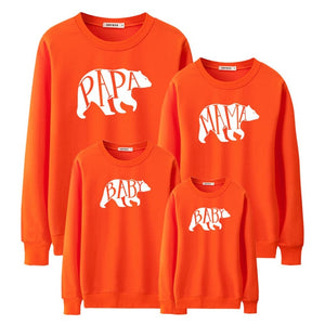 "Colourful ""Bear Family"" Sweatshirts"