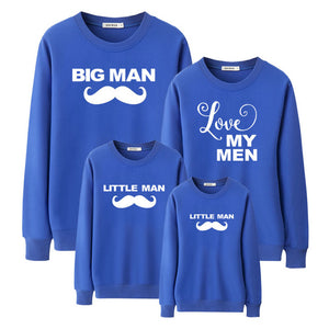 "Colourful ""Mustache Family"" Sweatshirts"