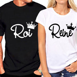 """French Roi & Reine"" T-shirts"