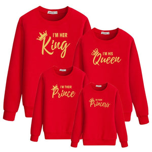 "Colourful ""Golden King & Queen"" Sweatshirts"