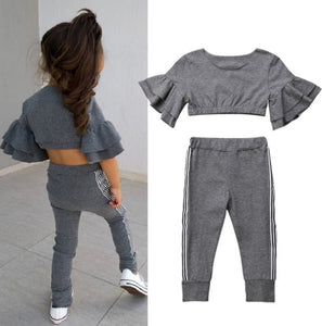 Slim Fit Top & Cotton Pants Set