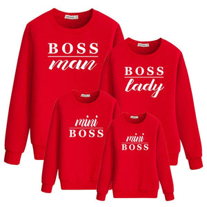 "Colourful ""Boss Family"" Sweatshirts"