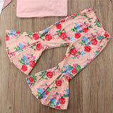 Sleeveless Top & Flower Print Pants Set