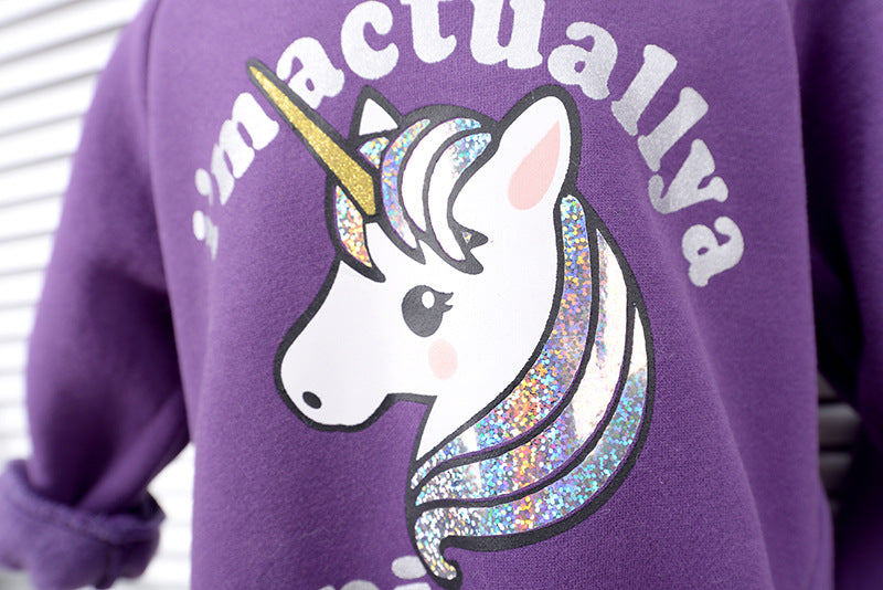 Unicorn Velvet Sweatshirts
