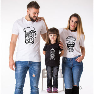 Beer-Coffee-Milk Funny Matching T-shirts