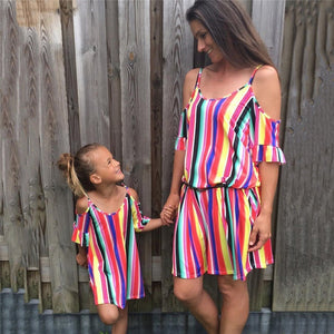 Arlequin Striped Dresses