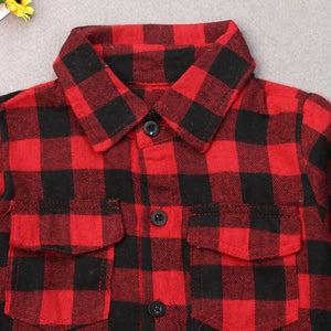 """Girl Gang"" Red Plaid Shirts"