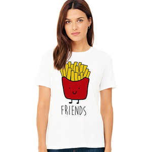 """Burger & Fries"" Funny T-shirts"