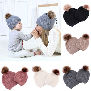 Wool Pom Bobble Hats