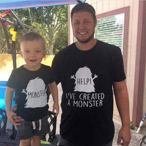 """Created A Monster"" T-shirts"
