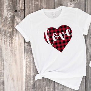 Cute Love Print T-shirts