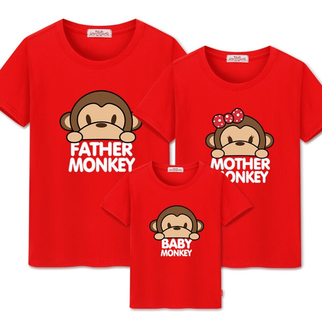Monkey Family T-shirts