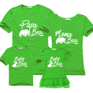 "Colourful ""Bear Family"" T-shirts"