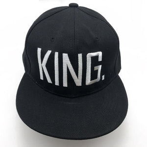 King & Queen Embroidered Snapback Caps