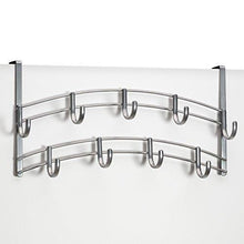 Load image into Gallery viewer, Airleds Over Door Accessory Holder - Scarf, Belt, Hat, Jewelry Hanger - 9 Hook Organizer Rack