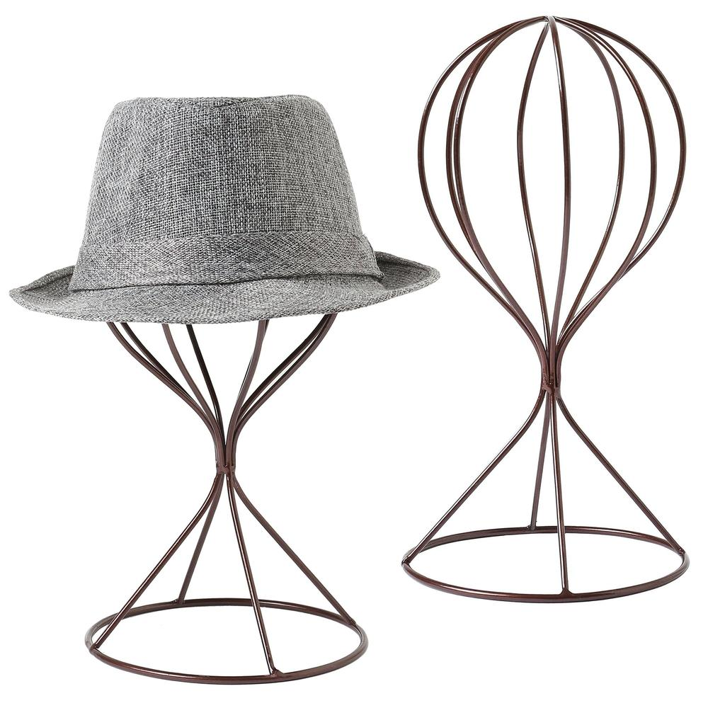 Modern Metal Hat Stands Tabletop, Set of 2