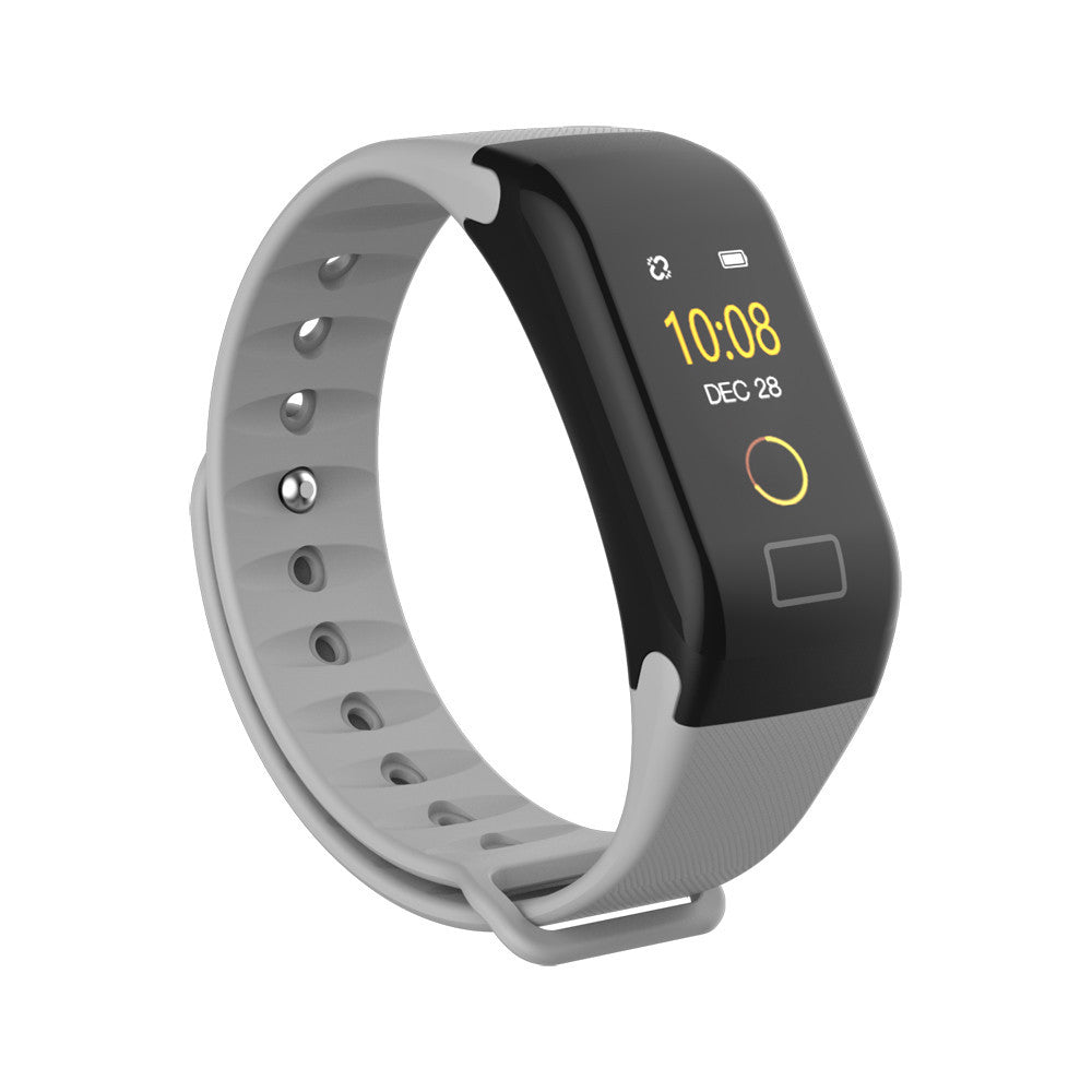 325d4fdd4 ... F1 Color Fitness Blood Pressure Oxygen Heart Rate Monitor Smart Watch  Bracelet ...