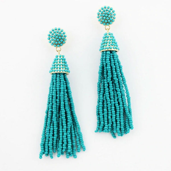 Chic Tassels Beads Earrings