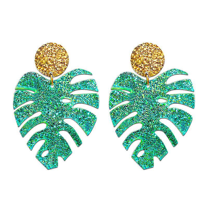Tropical Leaves Earrings